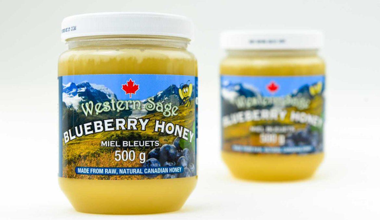 西方圣人蓝莓乳状蜂蜜 500G
